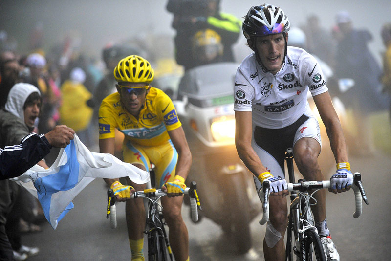 Schleck vs Contador