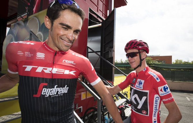 Contador and Froome